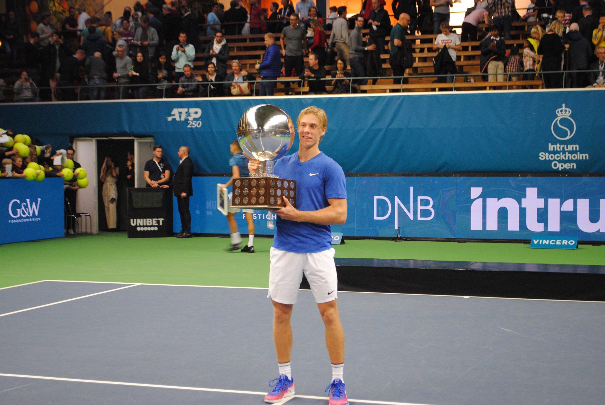 Denis Shapovalov campeão estocolmo 2019