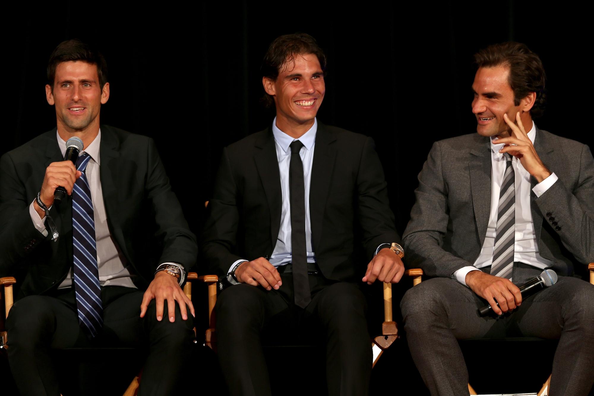 Novak Djokovic,Rafael Nadal e Roger Federer