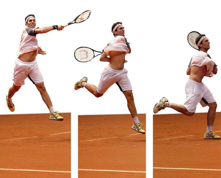 Uma análise comparativa do golpe de direita no tênis