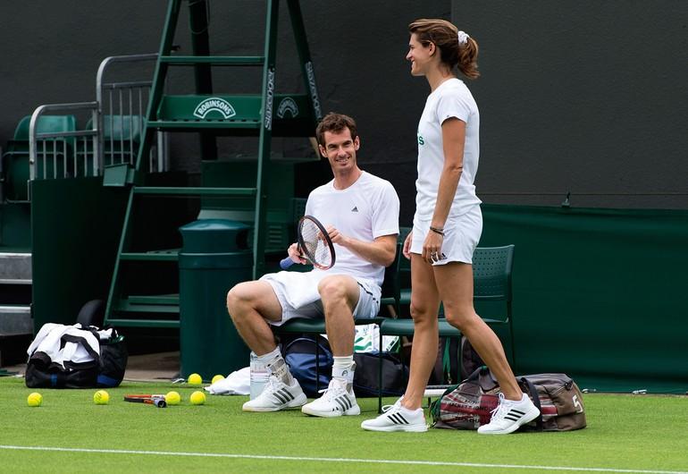 Andy Murray e Amelie Mauresmo