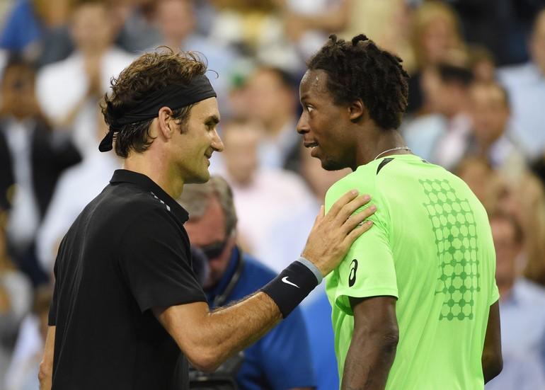 Roger Federer e Monfils