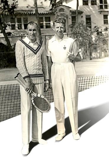 Bill Tilden e Don Budge