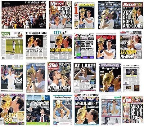 Jornais britânicos destacam vitória de Murray