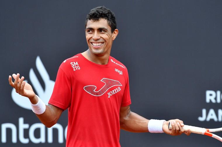 Rio Open Transmissão Thiago Monteiro tenista em treino