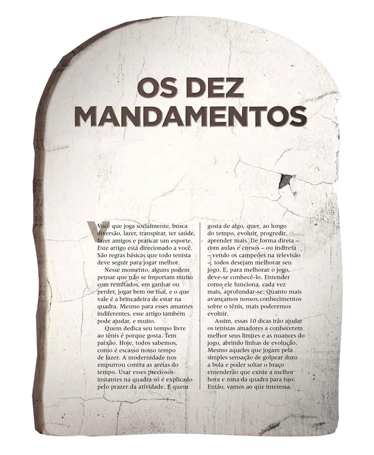 Os Dez Mandamentos · Revista TÊNIS 00dad1c06970d