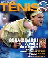 Capa Revista Revista Tênis 40 - Guga e Larri - a volta da alegria