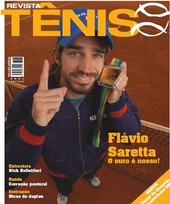 Capa Revista Revista Tênis 49 - Flávio Saretta - o ouro é nosso