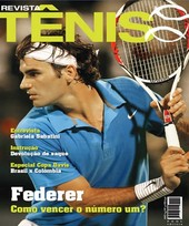 Capa Revista Revista Tênis 55 - Federer - como vencer o número 1