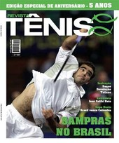 Capa Revista Revista TÊNIS 56 - Sampras no Brasil