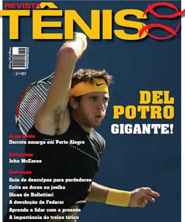 Revista TÊNIS 72 · Outubro 2009 · Del Potro gigante b0403387a2d23