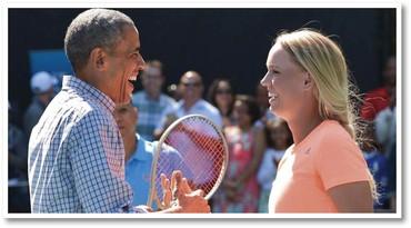 Obama / Caroline Wozniack