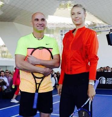 Maria Sharapova e Andre Agassi