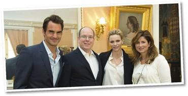 Roger Federer e Mirka / Albert II