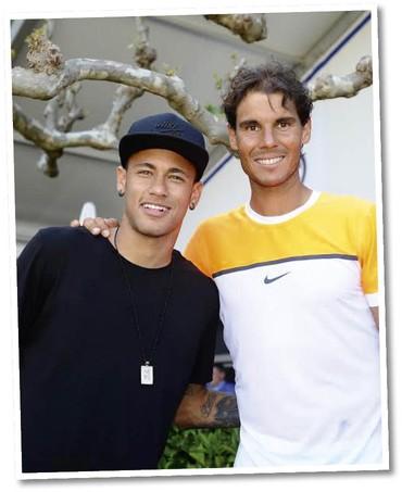 Neymar e Rafael Nadal