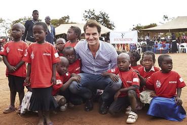 Roger Federer na África