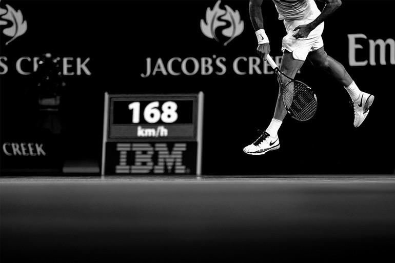 6c9eeb236d Acredito que o suíço Federer possui um dos melhores trabalhos de pernas do  circuito profissional. Apesar de o espanhol Rafael Nadal ser vigoroso